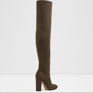ALDO SUMERS- Over the Knee Boots in Olive